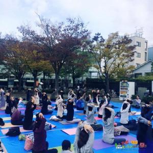 青空ヨガ2015京都