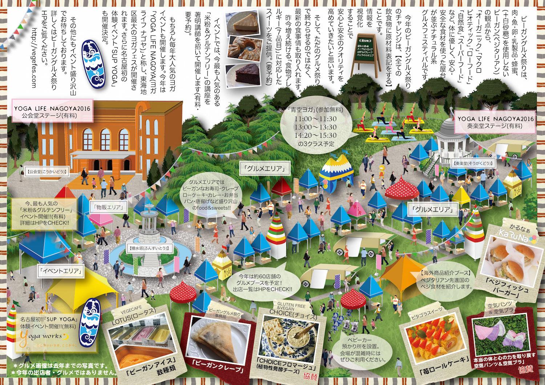 名古屋ビーガングルメ祭り2016会場MAP